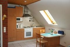 Blick in den Koch- und Essbereich